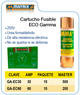 Cartucho Fusible ECO Gamma
