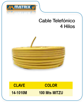 Cable Telefónico 4 Hilos