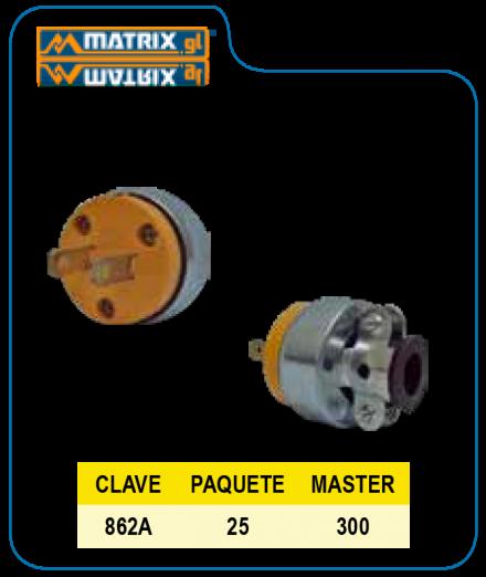 Clavija Industrial 862 Amarilla