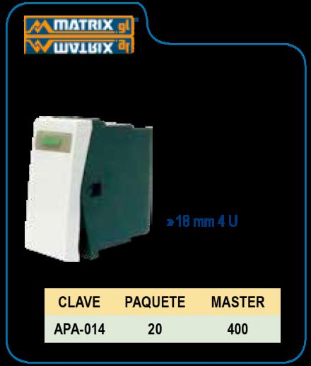 Apagador de Tecla Blanco de Lujo 18mm 4U