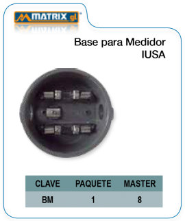 Base para medidor IUSA