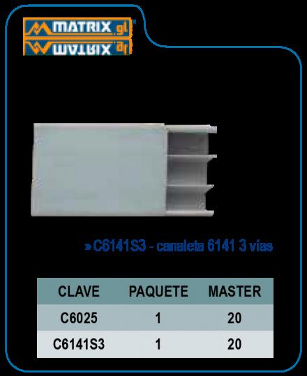 Canaleta 6025 2mts.