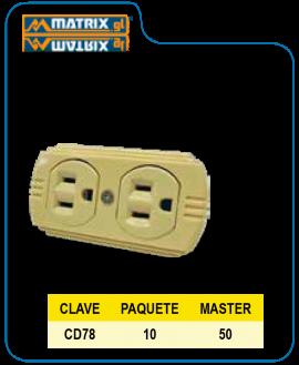 Contacto Duplex c/tierra Irrompible 78 SAMY