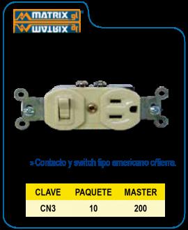 Contacto Duplex con Apagador Polarizado