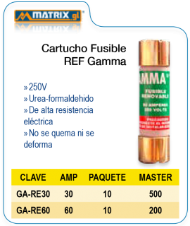 Cartucho Fusible REF GAMMA
