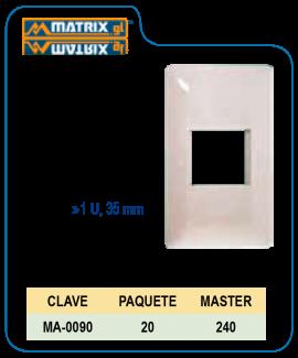 Placa Blanca de lujo 1U