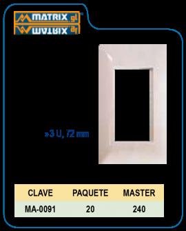 Placa Blanca de Lujo 3U