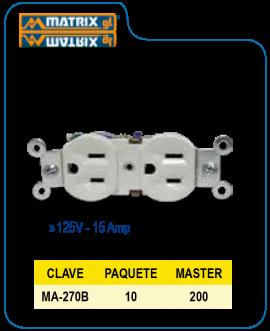 Contacto Duplex Blanco