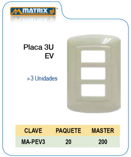 Placa 3U EV