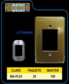 Placa Aluminio Dorada 3U