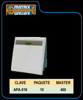 Apagador de Tecla Blanco 35mm 2U