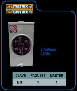 Base para medidor IUSA Polifásica