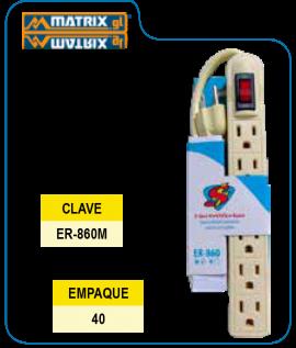 Multicontacto Blanco 6 Salidas Supplier Marfil