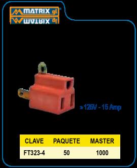 Clavija convertidora naranja