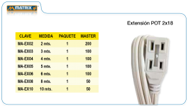 Extensión MATRIX.GL POT 2×18