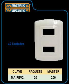 Placa 2U EV
